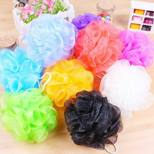 10pcs Bath Shower Sponge Mesh Scrunchie Body Wash Scourer Puff Shower Net L0C0