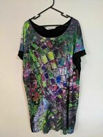Virtuelle Women's Dress Size Small Plus Size Black Abstract Print