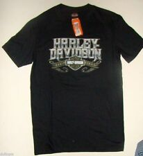 Harley Davidson Mens Medium Black Obvious Chrome Tee   -NWT..