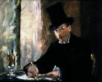 Chez Tortoni by French Édouard Manet. People Repro choose Canvas or Paper