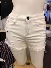 LADIES Denim White Shorts (SMALL)