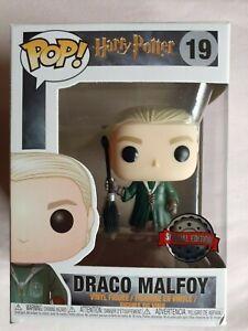 DRACO MALFOY with Broom #19, Harry Potter Funko Pop Vinyl Figure!