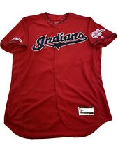 MLB Authenticated - Red Cleveland Indians Jersey Issued To Jon Edwards