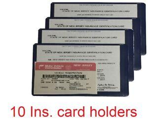 Ten (10) AUTO CAR TRUCK INSURANCE REGISTRATION ID CARD CASE WALLET HOLDER