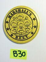 Vintage VTG MARSHALL'S BEST B.E.S.T. YELLOW PIN BACK Button Pinback B30
