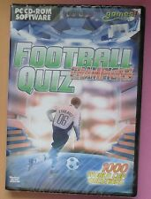 FOOTBALL Quizz champions PC CD-ROM inc 1000 coupe du monde 2006 questions NEUF!