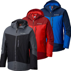 "New Mens Columbia ""Wister Slope"" Insulated Thermal Coil Waterproof Winter Jacket"