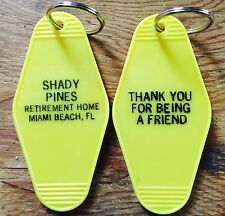 Golden Girls Inspired Keytag in YELLOW