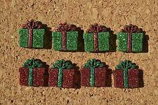 Set of 8 Holiday Present bulletin board pushpins, thumbtacks, or magnets