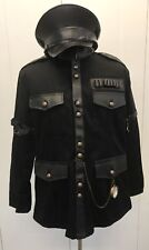 SDL Steampunk Heavy Black Cotton Military Jacket  Compass & Military Hat 59cm