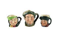 3pc Royal Doulton Toby Philpots Sairey Gamp Mini Auld Mac Small Toby Jugs Mugs
