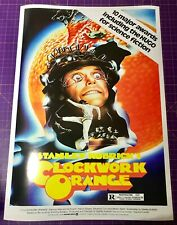 A CLOCKWORK ORANGE (1972) • A4 to A1 POSTER • FREE DELIVERY