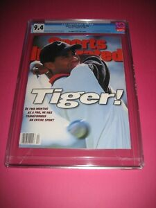 TIGER WOODS Sports Illustrated CGC 9.4 ROOKIE COVER 10/28/96 1st Cover!