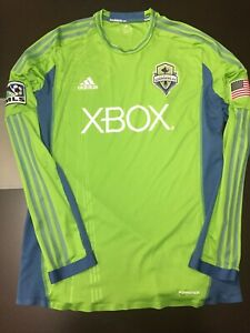 Seattle Sounders Authentic Long Sleeve Jersey XL Adidas See Pics MLS Soccer