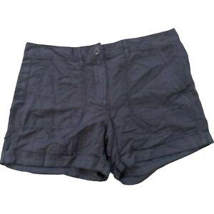 Womens Ann Taylor Loft Size 2 Linen Shorts Blue New $44.99 Waist 30