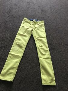 Girls Mini Boden Yellow Jeans In Aged 11 Years