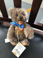 Vintage Steiff ZOTTY  Caramel Mohair Teddy Original Tabs Attached 029950