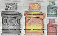 Indian Mandala Doona Quilt Cover Hippie Tapestry Ombre Reversible Duvet Cover