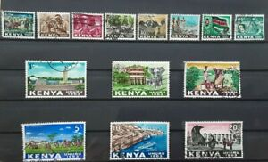 Kenya 1963 -  Independence complete set of 14 used stamps SG1 - SG14