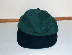 VTG COCA COLA GOLF HAT - GREEN W/BLUE EMBROIDERED FRONT/BACK NEVER WORN