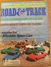 June 1976 Road & Track Magazine Sports Cars Firebird Trans-Am Jaguar XJ-C