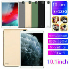 "10.1"" Ultra-thin 4G Tablet PC Android 9.0 8+128G WIFI Dual SIM Triple Camera New"