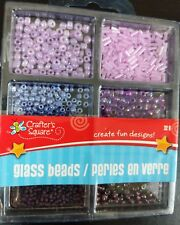 Glass Beads Variety small Purple set by Crafters Square. New in package