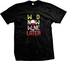 WOD Now Wine Later! Work Out Exercise Drink Funny Sayings Mens T-shirt