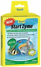 TETRA START ZYME TABS 8 TABLETS START UP WATER CONDITION FISH AQUARIUM FREE SHIP