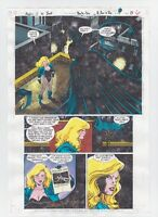 SHADOW OF THE BAT #36 PAGE 5 BLACK CANARY BATMAN COMIC PRODUCTION ART SIGNED