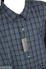 NWT 4XL VAN HEUSEN Mens Big & Tall Long Sleeve Tribeca Blue Dress Shirt