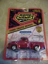 1994 Road Champs Ford Truck Series 1956 F-100 Pickup Truck Red NIP 1:43