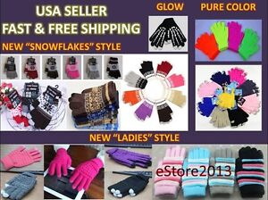 Magic Touch Screen Gloves Smart Phone Tablet Texting Winter Knit Stretch Unisex