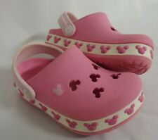 Crocs Clogs Disney GIRL'S Mickey / Minnie Mouse Size 6/7 Baby Infant Light Pink