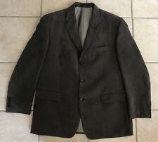 Men Calvin Klein 44R Sport Coat/Blazer/Suit Jacket Brown Polyester/Soft/Textured
