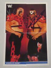 Road Warrior Animal Signed Legion of Doom 1991 Stickers WWF Card Set #120 WWE