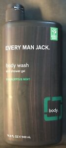 Every Man Jack Body Wash And Shower Gel Eucalyptus Mint 16.9-ounce