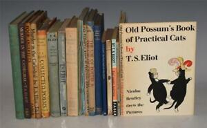 Collection of 20 Books by TS ELIOT Practical Cats Poems Poetry East Coker 1935