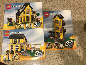 LEGO CREATOR 4996 INSTRUCTION MANUALS 3 IN 1 HOUSE