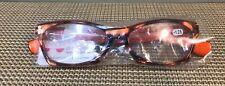 NEW Peepers Women's Reading Glasses +1.25 Brainchild - Tort. w/ Orange