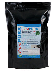 Food PURA® 500g CODEX Human FOOD Grade Diatomaceous Earth PERU Freshwater DE
