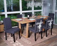 Lot de 6 chaises de séjour Littau – pâtisserie anthracite pieds foncés