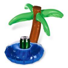 Palmier gonflable porte canette - Support boisson bouteille piscine baignoire