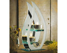 Flame & Butterfly Double Mirrored Tea Light Candle Holder Tealight Table Feature