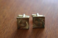 Cuff Links 1.5 cms Pair of Gold Coloured Square
