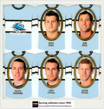 2007 Select NRL Invincible Face/ Guernsey Die Cut Card Team Set: SHARKS(12)