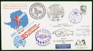 Mayfairstamps Russia 1990 15th Polish Antarctic Expedition Autographed Cover wwo