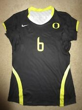 Oregon Ducks #6 Volleyball Team Game Worn Used Jersey Womens M Medium