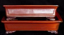 Bonsai - Japan - rotbraun glasiert 29 cm - kleine Schale aus Set - Bonsaischale