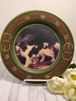 "Raymond Waites Hunting Dog 10¼"" Plate of of the Equestrian Hunt Set NWT"